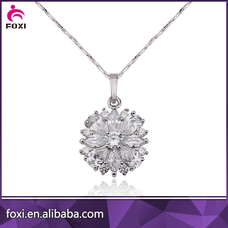 Rhodium Plated Necklace Jewelry Accessories