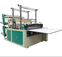 Double layer automatic plastic film heat sealing cold cutting t-shirt shopping bag making machine