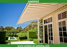 retractable metal roof awning