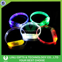 Custom Logo Printed LED Bracelet,Led Flashing Bracelet,Sound Activated Led Wristband