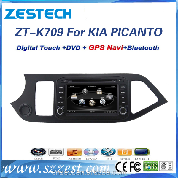 auto parts for kia picanto accessories with bluetooth dvd gps radio