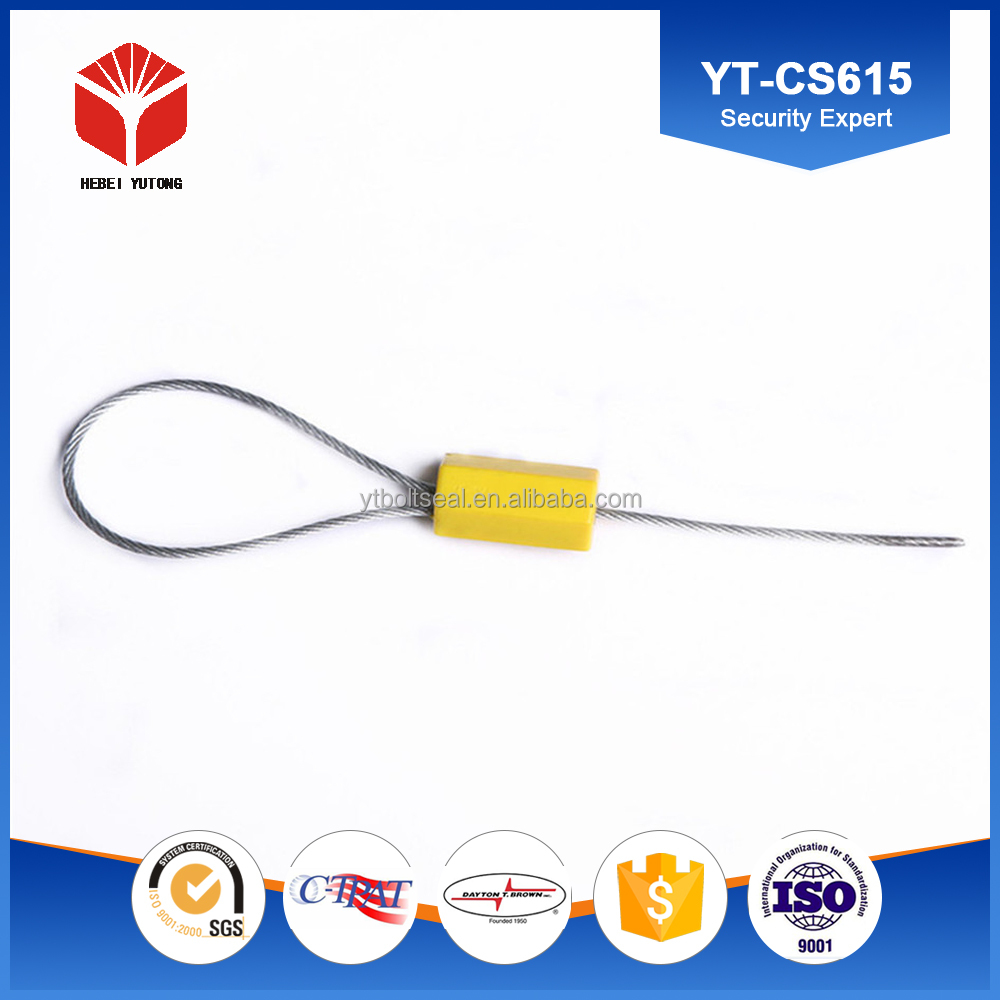 custom wire length with ABS wrapped hexagnoal cable seal YT-CS615