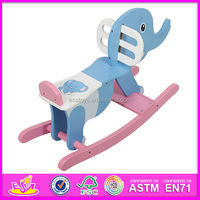 2015 New baby wooden rocking horse for baby,most popular solid wooden horse for kids W16D021-x-S