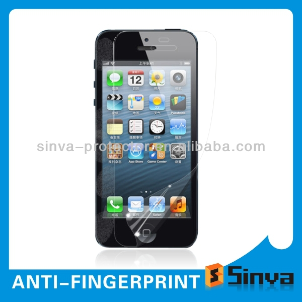 Korea PET Fingerprint Resistant Anti-Oil Clear Anti Scratch Touch Screen LCD Guard Protector Skin For Mobile Phone