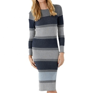 100% cotton Knit Women Sweater Dress