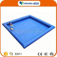 High quality pink plastic inflatable swimming pool inflatable floating pool