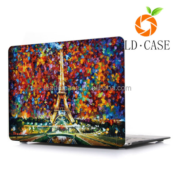 hot popular design printing pu leather laptop cover case for girls/Women