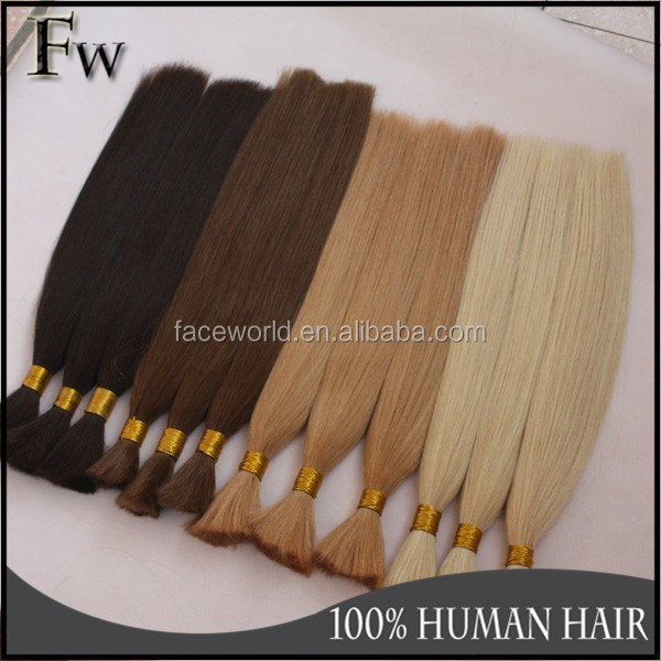 Remy express hair bulk russian human hair extension braiding hair bulk