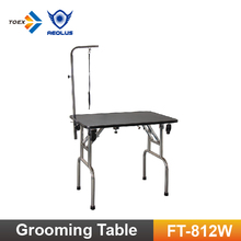 FT-812W Portable Dog Grooming Table for Pets Folding Table with Wheels