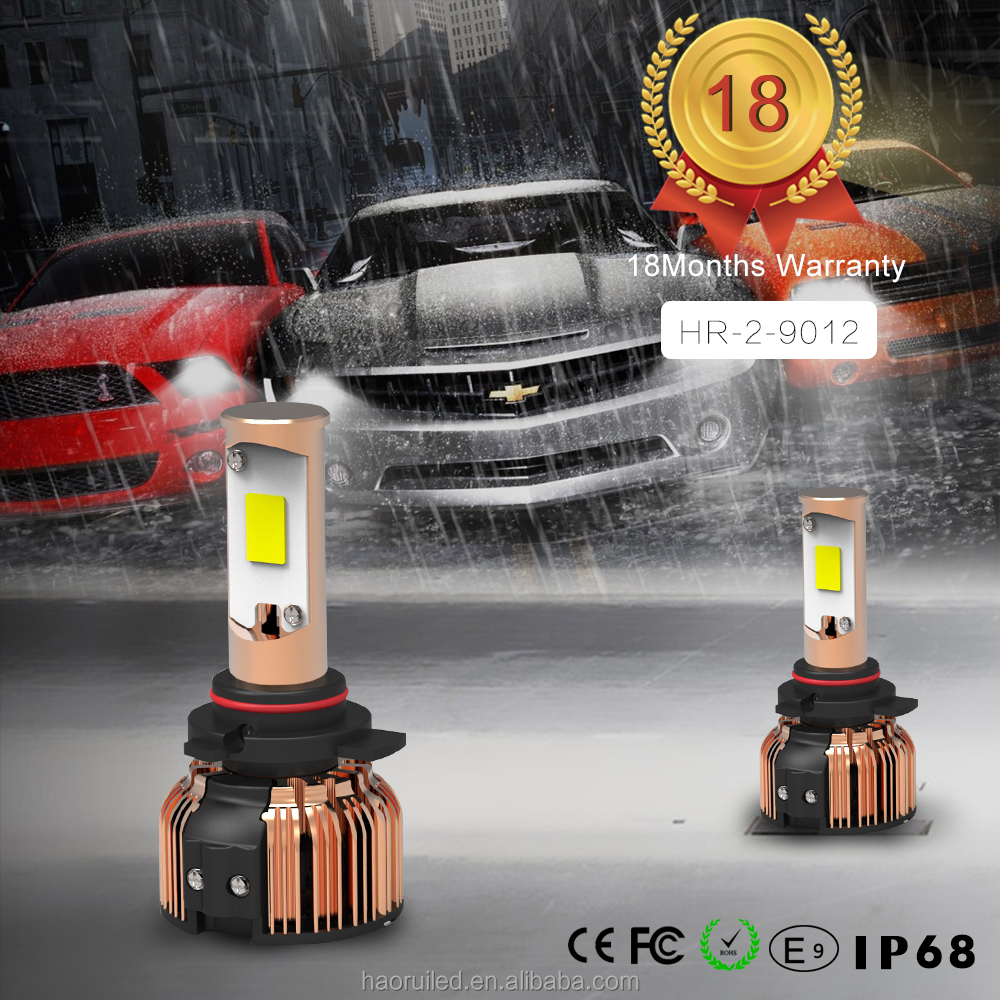 Factory direct auto parts LED headlight bulbs 80W 8000LM LED Headlight lamps Auto kit 3c 9012 car led light