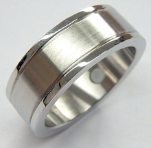 2017 China factory wholesale men's titanium magnetic black wedding ring
