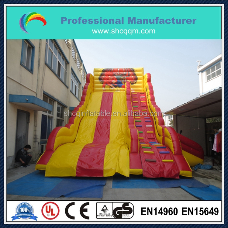High quality cheap inflatable super spiderman slide for children