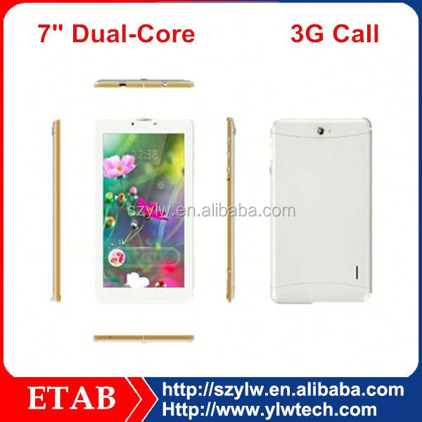 7 Inch MTK6572 dual core 3G sim card,gps,bluetooth function phone call tablet pc