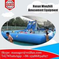 Customized inflatable pool , inflatable swimming pool for water park, inflatable square swimming pool
