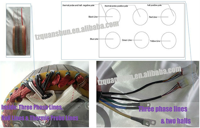 1000W 205 40H V2 Electric Car Wheel Motor