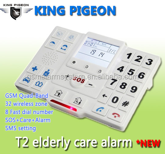 King Pigeon Wireless GSM telephone for old people with 8 button dial , telephone with sim card for old peopleT2