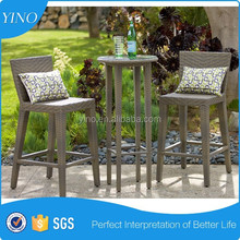 OUTDOOR RESIN WICKER BAR SET WITH TABLE AND STOOLS PATIO FURNITURE DECK RZ1962