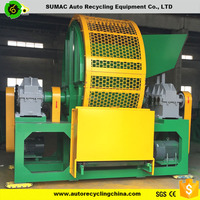 double shaft complete tire shredder with CE