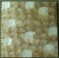 Mixed color capiz shell wallpaper normal pattern