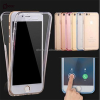New Coming Ultrathin Clear Transparent TPU Silicone Flexible Soft TPU Double Cover Case For Apple iPhone 6 6s / Plus 360 Protect