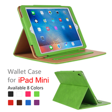 assorted solid color leather material stander holder for ipad mini 4