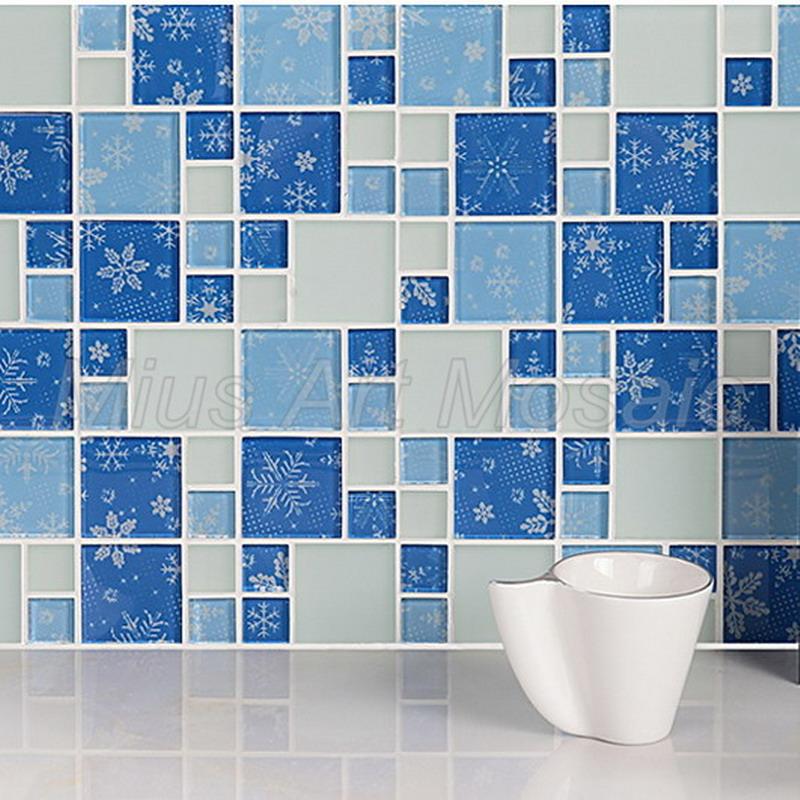 Grossiste salle de bain mosaique bleu-Acheter les meilleurs salle ...