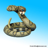 Striking Diamondback Rattlesnake Snake Statue Figurine