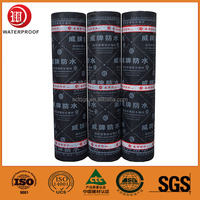 Rubber powder modified asphalt waterproof roofing material
