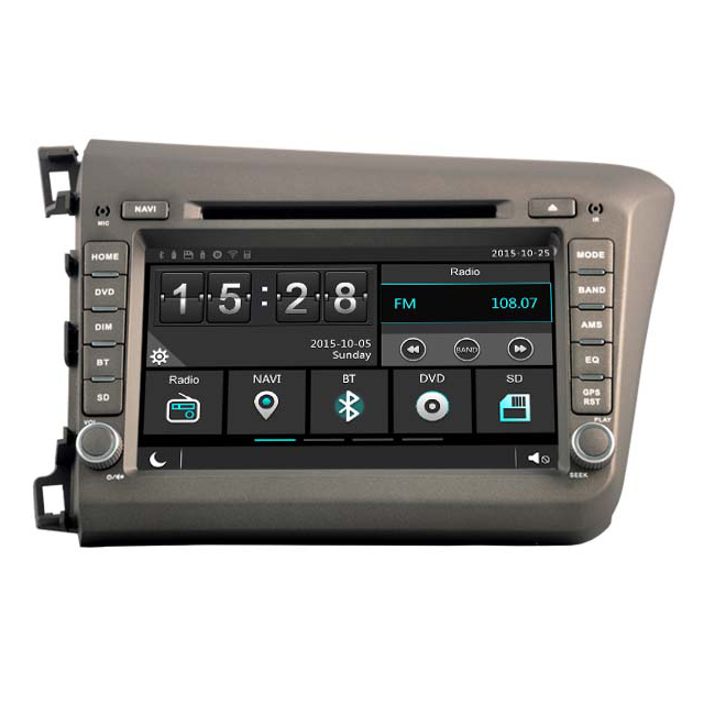 WITSON WINDOWS AUTO RADIO DVD PLAYER GPS FOR <strong>HONDA</strong> <strong>CIVIC</strong> 2012 FOR LEFT HAND DRIVER