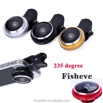 Hot Sale Top Quality Camera Phone Lens 235 Degree Super Fisheye Lens LQ-017 For All Brands of Smartphone