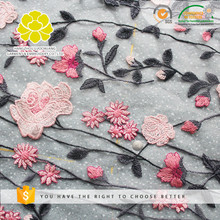 Chemical OEM Service Hot Selling Flower Beaded lace dress fabric wedding,lace dress fabric