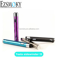 High Quality New E Cig Battery Tesla sidewinder II 2000mah VV battery with elgant four color