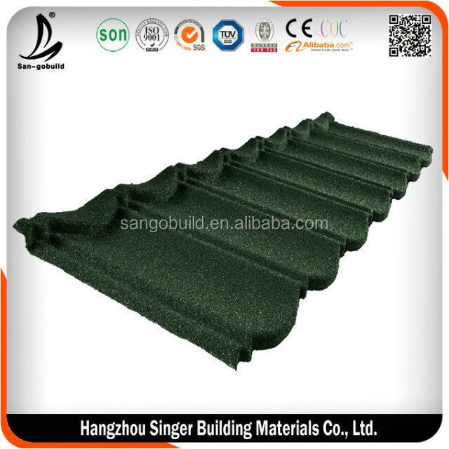 India hot sale kerala stone coated metal roof tile price