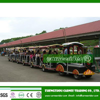 Top quality Outdoor amusement rides tourist road trackless train for sale!