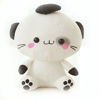 Customized Stand Animal White Stuffed Cats cartoon Cats Plush toy wholesale