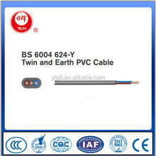 BS 6004 624-Y Twin and Earth PVC Cable
