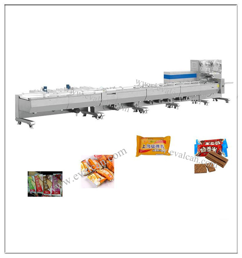 Automatic horizontal pillow energy bar, granola bar, protein bars bag packaging machine
