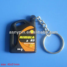 shell Rimula R3 X 15W-40 oil bottle keychain in soft rubber PVC