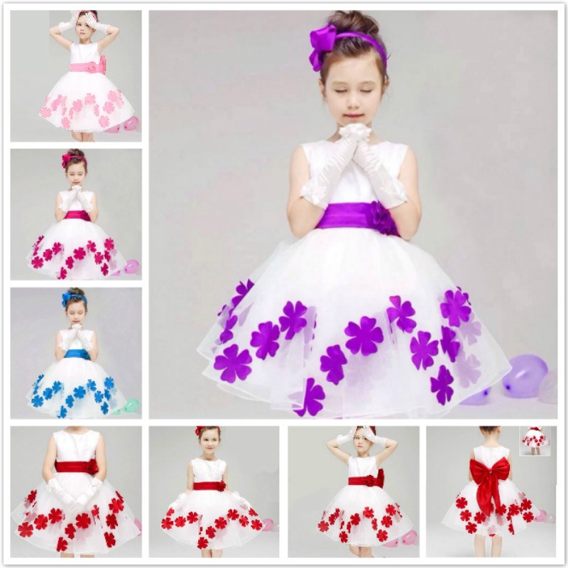 wholesale beautiful child kids flower evening dresses for party