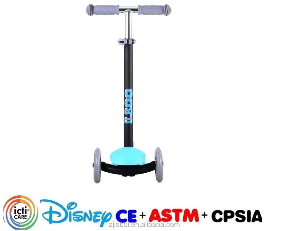 100% Aluminum Child cheap kids scooter used for games pu 3 wheel for sale kids mini scooter