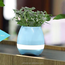 New Products Bluetooth speaker smart music pot , garden music flower pot for Office and Home