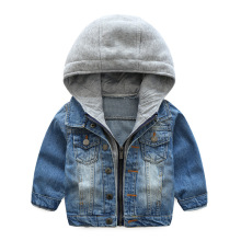Bulk wholesale kids jacket children winter denim jacket