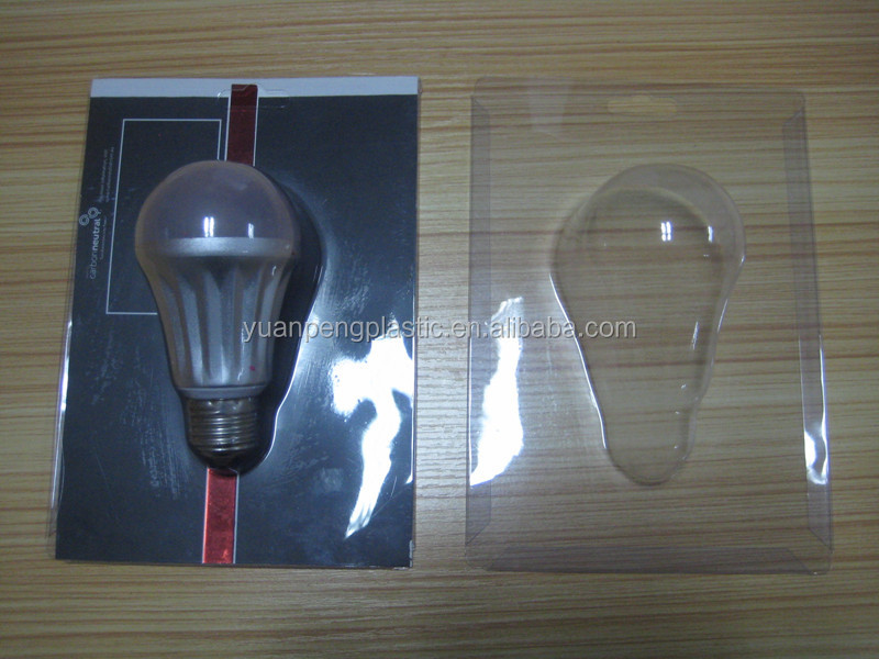 Custom logo printed Led light packaging box with low cost Transparent Led light PVC packaging box