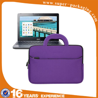 portable handle carrying portfolio neoprene sleeve case bag for laptop case