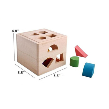 Montessori material educational equipment solid wood block toy for kids