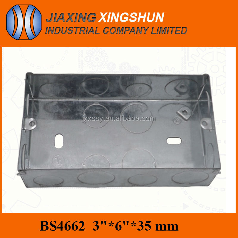 Hot Selling 3*6 2gang Rectangular Outdoor Metal Electrical Terminal Switch Boxes with knockouts