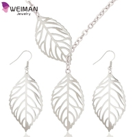1 Set Leaves Silver/ Gold Plated Hollow Dangle bohemian jewelry