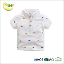 Wholesale short sleeve cartoon cotton polo baby tee shirts