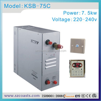 coasts excellent energy converastion 7.5kw 220-240V portable steam generator for steam club