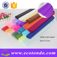 new colorful 140g crepe paper wax paper for flower packing artwork paper